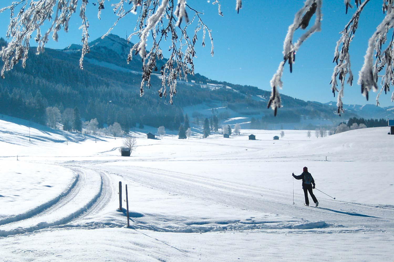 Langlaufen in Rettenberg im Allgäu